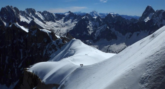 image: stunning view looking towards vallee blanche