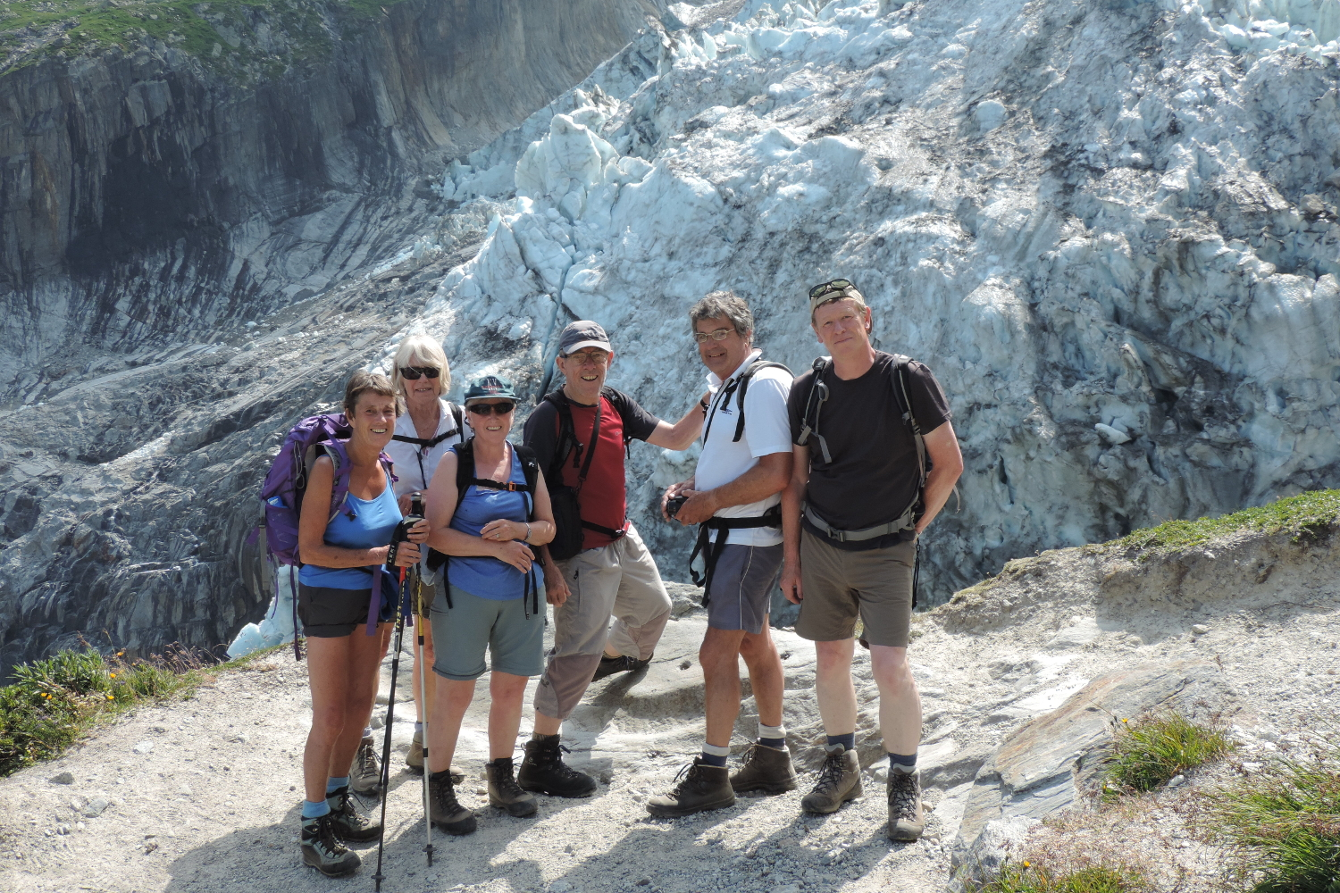 After a great five weeks, Mike getting great testimonials on the Argentiere Glacier