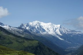 Mont Blanc and Chamonix Weather is contrasts; hot days, cold mountains