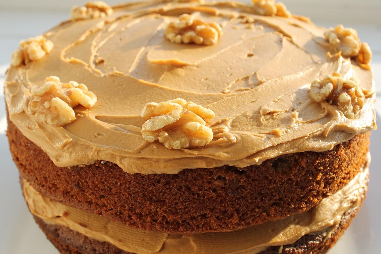 Coffee Walnut yohurt Cake Recipe