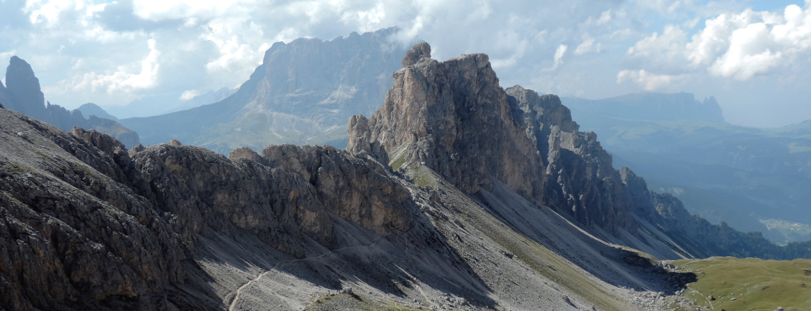The Puez Odle Group of summits in the Dolomites