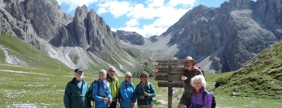 Col Raiser with stunning views to the Sella Group in the Dolomites