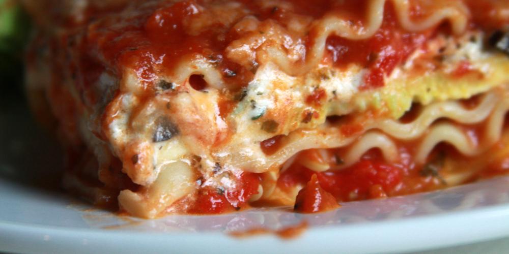 Goat Cheese Lasagne an Italian Veggie Favourite