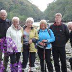 Meeting Friends near Shap Abbey on a Lake District walk