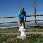 Paula with the Last Snowman in a busy week