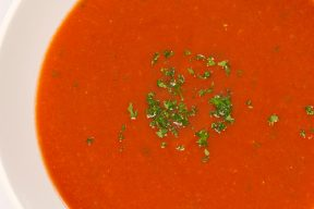 Homemade Soup with Red Pepper