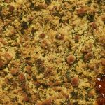 Tomato Goats Cheese Crumble. A tasty vegetarian dish